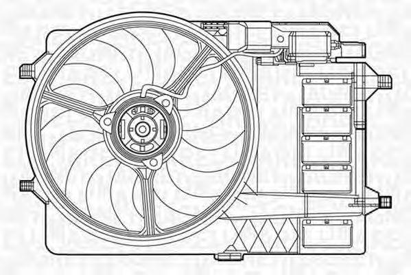 Вентилятор, охлаждение двигателя MAGNETI MARELLI 069422279010
