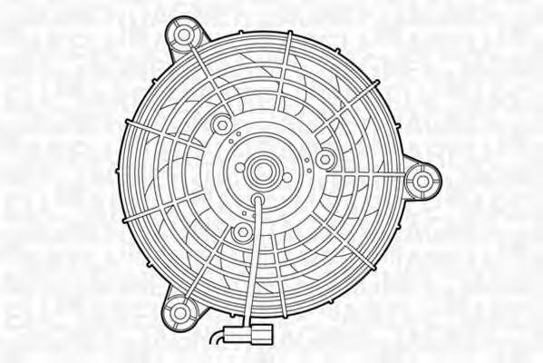Вентилятор, охлаждение двигателя MAGNETI MARELLI 069422295010