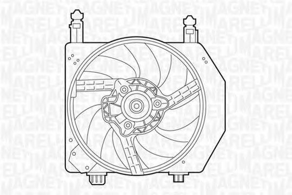 Вентилятор, охлаждение двигателя MAGNETI MARELLI 069422305010