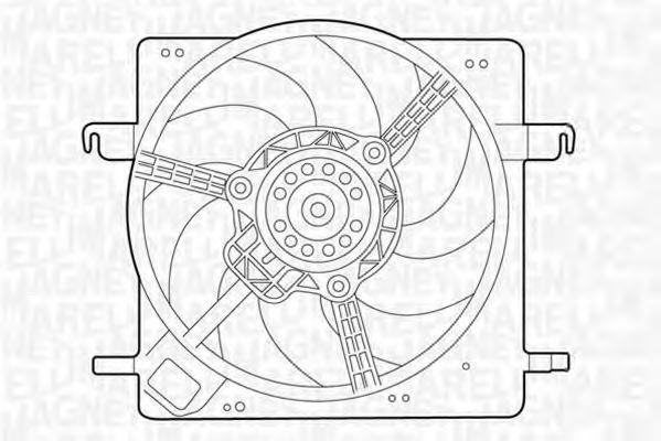 Вентилятор, охлаждение двигателя MAGNETI MARELLI 069422313010