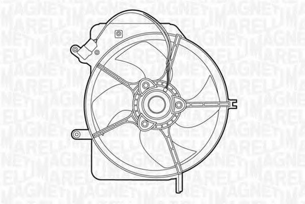 Вентилятор, охлаждение двигателя MAGNETI MARELLI 069422322010