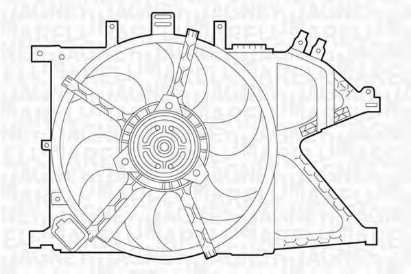 Вентилятор, охлаждение двигателя MAGNETI MARELLI 069422331010