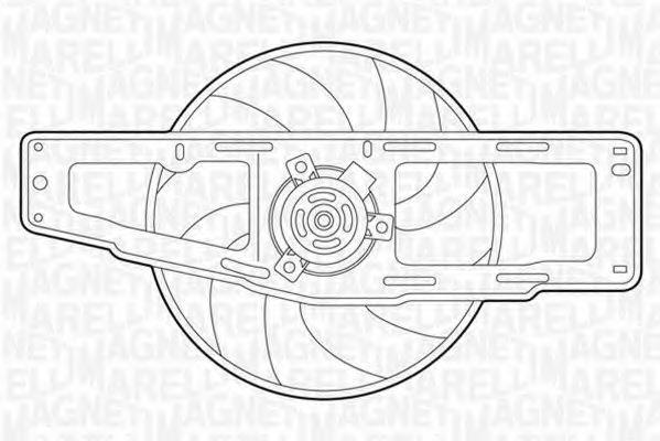Вентилятор, охлаждение двигателя MAGNETI MARELLI 069422346010