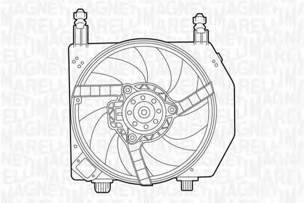 Вентилятор, охлаждение двигателя MAGNETI MARELLI 069422394010