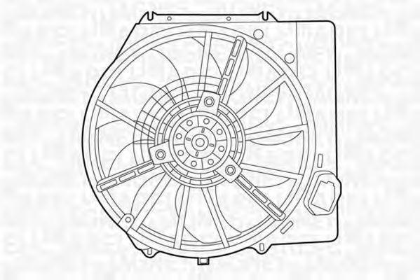 Вентилятор, охлаждение двигателя MAGNETI MARELLI 069422437010