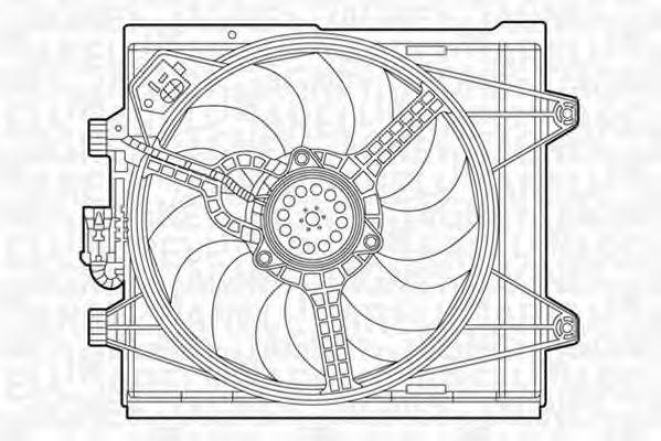Вентилятор охлаждения двигателя MAGNETI MARELLI 069422451010