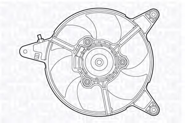 Вентилятор, охлаждение двигателя MAGNETI MARELLI 069422471010
