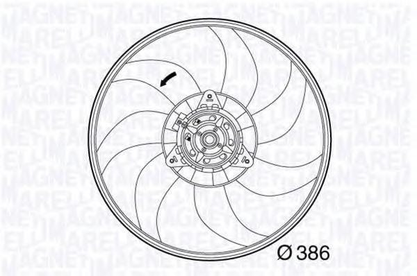 Вентилятор, охлаждение двигателя MAGNETI MARELLI 069422563010