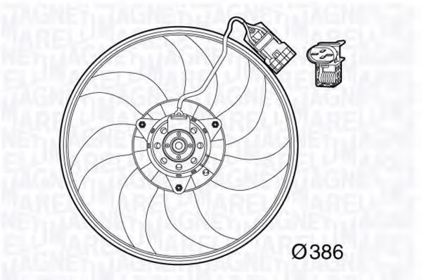 Вентилятор, охлаждение двигателя MAGNETI MARELLI 069422569010
