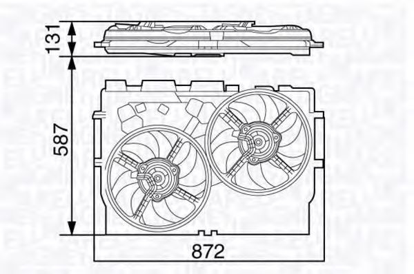 Вентилятор охлаждения двигателя MAGNETI MARELLI 069422582010