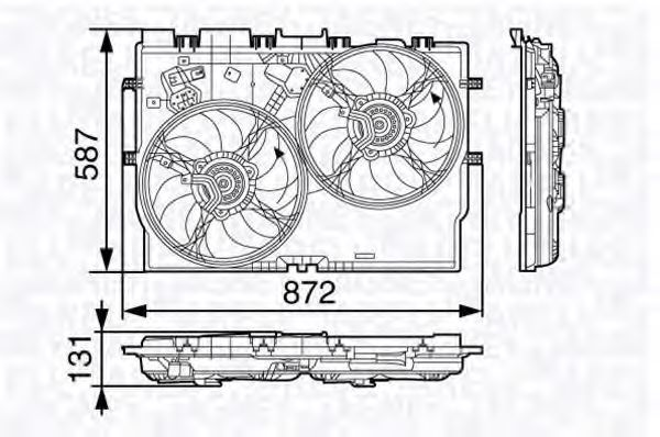 Вентилятор охлаждения двигателя MAGNETI MARELLI 069 42 258 401 0