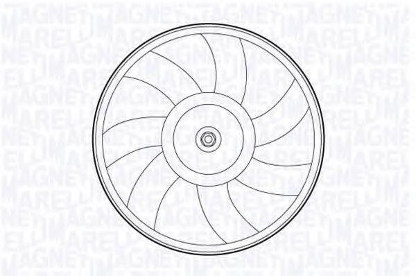 Вентилятор, охлаждение двигателя MAGNETI MARELLI 069422591010