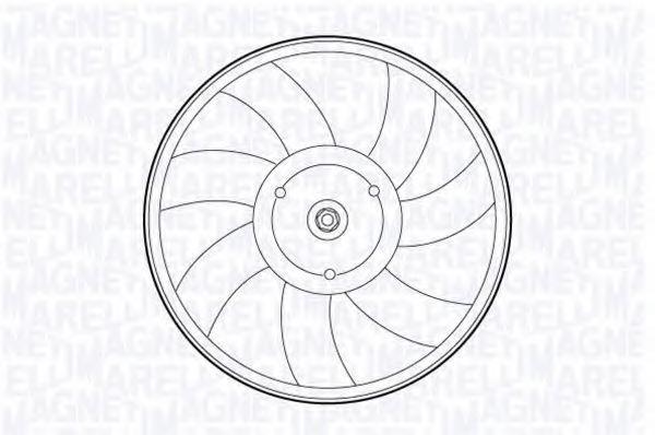 Вентилятор, охлаждение двигателя MAGNETI MARELLI 069422592010