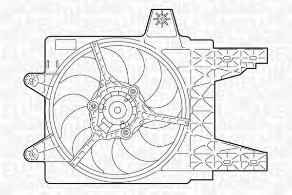 Вентилятор охлаждения двигателя MAGNETI MARELLI 069402281010