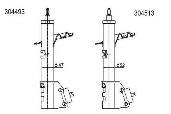 Амортизатор подвески AL-KO 304493