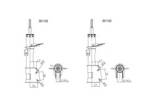 Амортизатор подвески AL-KO 301133