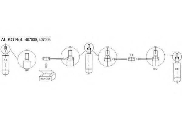 Амортизатор подвески AL-KO 407003