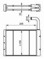 Радиатор отопителя салона NRF 54262