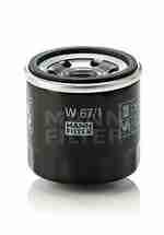 Фильтр масляный MANN W671: описание