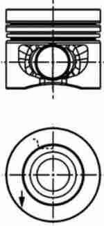 Поршень двигателя KOLBENSCHMIDT 40 558 610: описание
