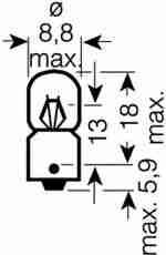Автолампа T2W 24В OSRAM 3797: описание