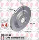 Диск тормозной Coat Z ZIMMERMANN 400366120