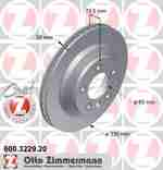 Диск тормозной Coat Z ZIMMERMANN 600.3229.20: заказать